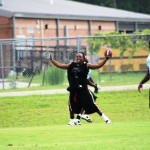 West Gadsden Receiver in the endzone