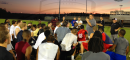 Team Florida head coach Mike Coe address his players after their final practice. Many notable seniors from around the area will be featured against the Georgia all-stars.