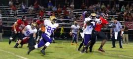 Marianna running back Quatre Couch looks for running room against the NFC defense. Couch rushed for 165 yards on the night.
