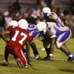 Leon LB Josh Levin Lines up over Godby OL Montae Jones