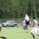 Wakulla receiver goes up for ball