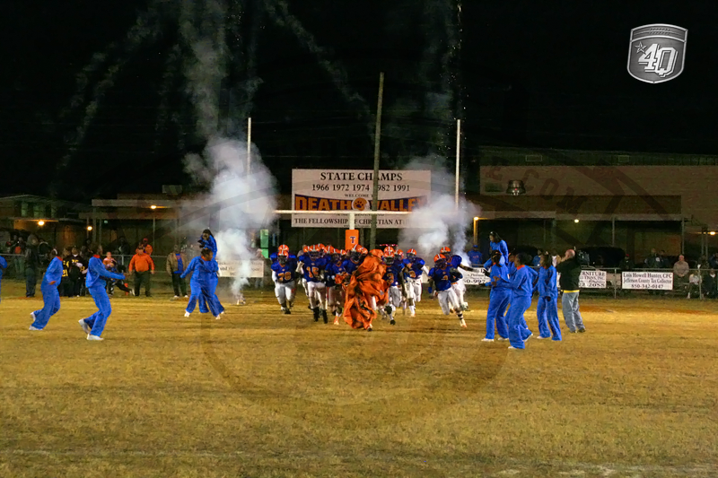 The fireworks were on display as the Jefferson County Tigers run on to the field