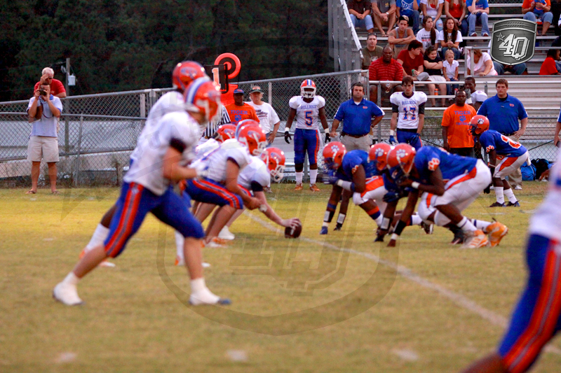 The Taylor County offense lines up aginst the Jefferson County defense